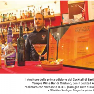 Il Temple Wine Bar di Oristano - con il cocktail Ammentos
